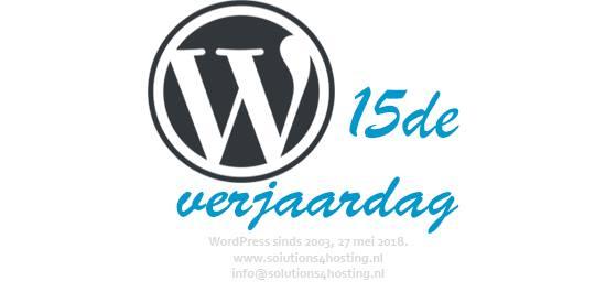 WordPress is 15 jaar!