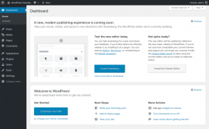 WordPress 5.x / Dashboard