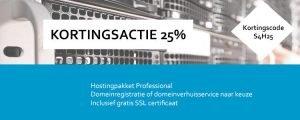 Kortingsactie 25%