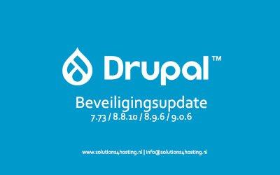 Software-update: Drupal versies 7.73 / 8.8.10 / 8.9.6 / 9.0.6 – Beveiligingsupdate