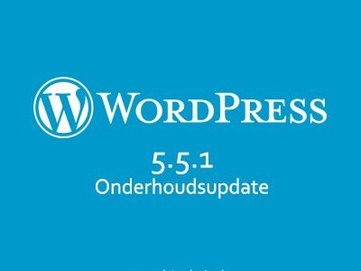 Software-update: WordPress 5.5.1 – Onderhoudsupdate