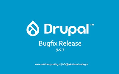 Software-update: Drupal 9.0.7 – Bugfix Release