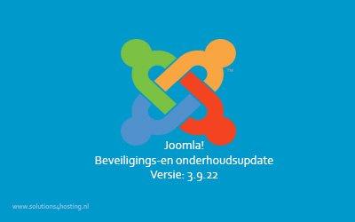 Software-update: Joomla! 3.9.22 – Beveiligings- en onderhoudsupdate