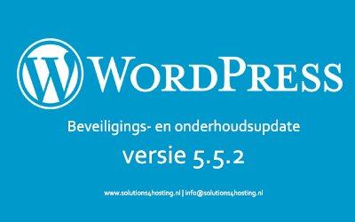 Software-update: WordPress 5.5.2 – Beveiligings- en onderhoudsupdate