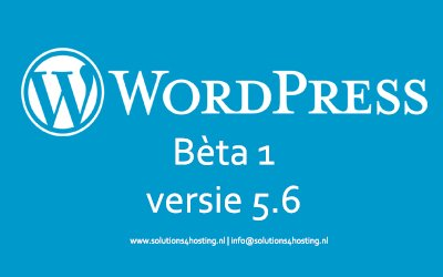 WordPress Beta 1 - 5.6 / Oktober 2020