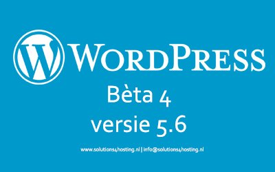 Dev/Software-beta: WordPress 5.6 Bèta 4
