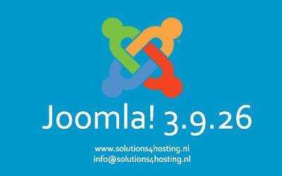 Software-update: Joomla! 3.9.26 – Beveiligings- en onderhoudsrelease