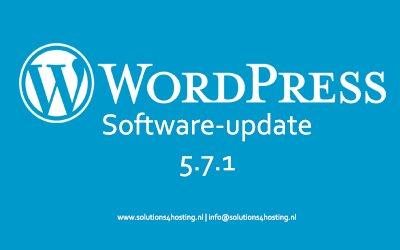 Software-update: WordPress 5.7.1