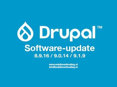 Software-update: Drupal 8.9.16 / 9.0.14 / 9.1.9