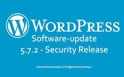 Software-update: WordPress 5.7.2 – Security Release